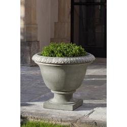 Campania International Cast Stone Urn Planter Concrete in Brown, Size 22.5 H x 26.75 W x 26.75 D in | Wayfair P-551-TR