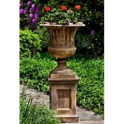 "Campania International Smithsonian Cast Stone Urn Planter, Concrete in Brownstone, Size 27""H X 22""W X 22""D | Wayfair P-659-BR"