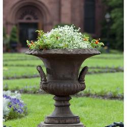 "Campania International Smithsonian Cast Stone Urn Planter, Concrete in Brownstone, Size 30""H X 33""W X 23""D | Wayfair P-528-BR"