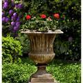 Campania International Smithsonian Cast Stone Urn Planter Concrete in Brown, Size 27.0 H x 22.5 W x 22.5 D in   Wayfair P-659-TR