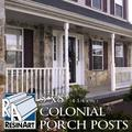 """Colonial Porch Post - 5""""x8' (4-1/4"""" x 96"""") - Galvanized Steel Pipe Inside Synthetic Shell - Load Bearing. Unfinished and ready to paint."""