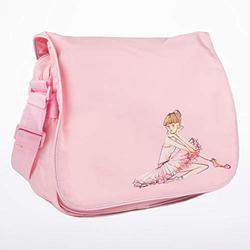 Bloch Dance Girl's Adjustable Strap Ballerina Shoulder Bag, Light Pink