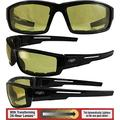 Global Vision Sly 24 Padded Motorcycle Sunglasses Gloss Black Frames with 24 Hour Transforming Photochromic Yellow to Smoke Lenses