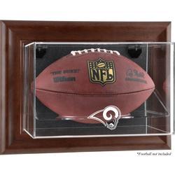 Los Angeles Rams Brown Framed Wall-Mountable Football Display Case
