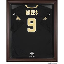 New Orleans Saints Brown Framed Logo Jersey Display Case