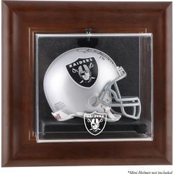 Las Vegas Raiders Brown Framed Wall-Mountable Mini Helmet Display Case