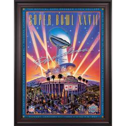 "1993 Cowboys vs Bills Framed 36"" x 48"" Canvas Super Bowl XXVII Program"