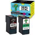 YATUNINK Remanufactured Ink Cartridge Replacement for lexmark 36 37 Ink Cartridge/Lexmark 36xl and 37xl Ink Cartridges for Lexmark X3650 X4650 X5650 X5650es X6650 X6675 Z2420(1Black+1Color)