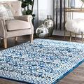 "nuLOOM Istanblue Persian Area Rug, 5' x 7' 5"", Dark Blue"