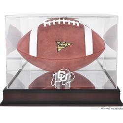 Colorado Buffaloes Fanatics Authentic Mahogany Base Logo Football Display Case with Mirror Back