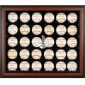 Boston Red Sox Fanatics Authentic 2007 World Series Champions Logo Brown Framed 30-Ball Display Case