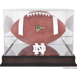 Notre Dame Fighting Irish Fanatics Authentic Mahogany Base Logo Football Display Case with Mirror Back