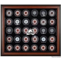 Colorado Avalanche Fanatics Authentic 30-Puck Brown Display Case