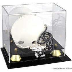 Kansas Jayhawks Fanatics Authentic Golden Classic Logo Mini Helmet Display Case