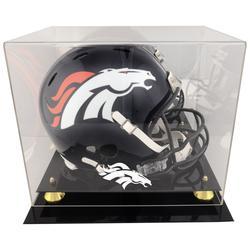 Denver Broncos Fanatics Authentic Golden Classic Helmet Display Case with Mirrored Back