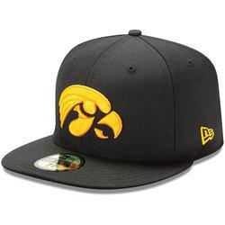 New Era Iowa Hawkeyes 59FIFTY Fitted Hat - Black