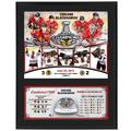 """Chicago Blackhawks Fanatics Authentic 12"""" x 15"""" 2013 NHL Stanley Cup Final Champions Sublimated Plaque with Game-Used Ice"""