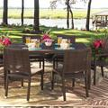 "Woodard All-Weather Wicker Dining Table in Coffee, Size 29""H X 63""W X 39""D | Wayfair S601702-Coffee"
