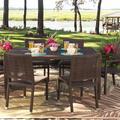 Woodard All-Weather Wicker Dining Table in Brown, Size 29.0 H x 63.0 W x 39.0 D in | Wayfair S601702-Coffee