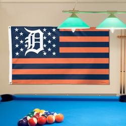 Detroit Tigers WinCraft Deluxe Stars & Stripes 3' x 5' Flag