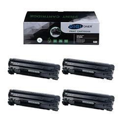 TonerPlusUSA Compatible CF283X/CRG137 Toner Cartridge for HP CF283X and Canon 137 CRG137 C137 Toner for HP Laserjet pro MFP M225dn M225dw M127fw M127fn M201dw M201n M125nw M125a– Black [4 Pack]