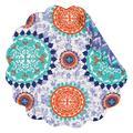 "C&F Home Set of 4 Pcs, 17"" Round Quilted Reversible Placemat, Zarina"