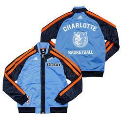 Charlotte Bobcats NBA Big Boys On The Court Warm Up Jacket, Light Blue (Medium (10-12), Light Blue)