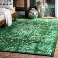 nuLOOM Reiko Vintage Persian Area Rug, 8' x 10', Green