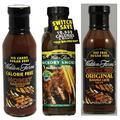 Walden Farms Original BBQ Sauce, Hickory Smoked BBQ Sauce and Honey BBQ Sauce Set (Pack of Three)