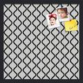 PinPix ArtToFrames 20x20 Inch Custom Cork Bulletin Board. This Waves in Black and White Pin Board Has a Fabric Style Canvas Finish, in a Satin Black Frame (PinPix-194-20x20_FRBW26079)
