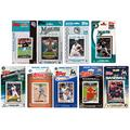 """MLB Miami Marlins 9 Different Licensed Trading Card Team Sets, 4"""" x 7"""""""