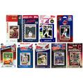 """C&I Collectables MLB Cleveland Indians 9 Different Licensed Trading Card Team Sets, 4"""" x 7"""""""