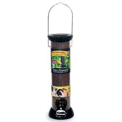 Droll Yankees, Inc Clever Clean 2 Port Nyjer/Thistle Feeder Plastic in Black, Size 17.0 H x 6.0 W x 6.0 D in | Wayfair CC12N