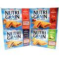 Kellogg's NUTRI-GRAIN Soft Baked Breakfast Bars VARIETY 4 PACK: 1 Box of STRAWBERRY, 1 Box of CHERRY, 1 Box of APPLE, 1 Box of BLUEBERRY. 8 Bars in Each Box (10.4 oz) (PACK of 4)
