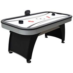 Hathaway Silverstreak 6-Foot Air Hockey Game Table for Family Game Rooms with Electronic Scoring, Black