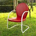 Griffith Metal Chair, Red