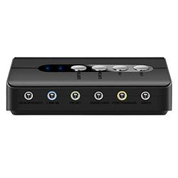 Top-Longer External USB Sound Card 7.1 with SPDIF Digital Audio and 2 Mic - 3D Surround Soundcard 3.5MM Audio Adapter up to 8 Speaker