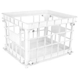 Storex Standard Letter/Legal File Crate Plastic in White, Size 11.2 H x 14.25 W x 17.25 D in | Wayfair 61662U03C