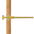 Fresno Collection Retractable Pullout Garment Rod in Polished Brass