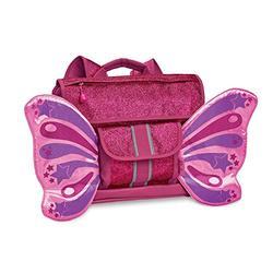 Bixbee Kids Backpack, Sparkalicious Ruby Raspberry Butterflyer, Small