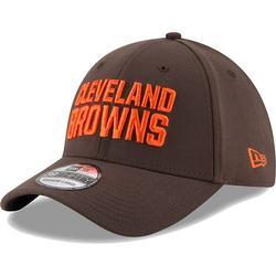 Men's New Era Brown Cleveland Browns Team Classic 39THIRTY Flex Hat