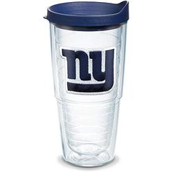 Tervis NFL New York Giants Primary Logo Tumbler with Emblem and Navy Lid 24oz, Clear