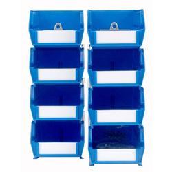 """Triton Products® LocBin Polypropylene Hanging Bin & BinClip Kits, (4) Small 5-3/8""""L x 4-1/8""""W x 3""""H and (4) Medium 7-3/8""""L x 4-1/8""""W x 3"""" H"""