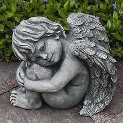 Campania International Evangeline Garden Statue in Gray, Size 10.5 H x 8.0 W x 12.5 D in   Wayfair C-108-GS