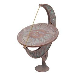 Whitehall Products Sun & Moon Sundial Metal, Size 15.5 H x 12.0 W x 8.75 D in | Wayfair 1273