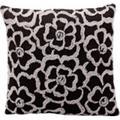 "Nourison Kathy Ireland Pillow Grey Flowers 18""x18"" Pillow"