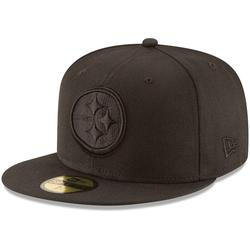 Men's New Era Pittsburgh Steelers Black on 59FIFTY Fitted Hat