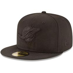 Men's New Era Miami Dolphins Black on 59FIFTY Fitted Hat