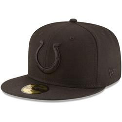 Men's New Era Indianapolis Colts Black on 59FIFTY Fitted Hat