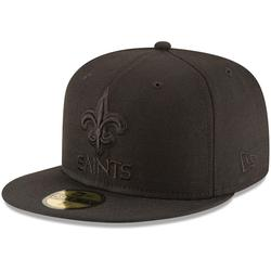 Men's New Era Orleans Saints Black on 59FIFTY Fitted Hat